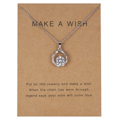 Fashion Women Gold Plated Leaf Circle Pendant Friendship Couple Necklace Jewelry circle