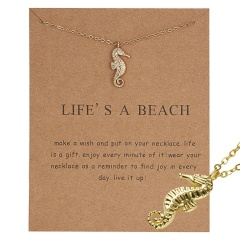 Simple Sun Leaf Wing Charms Pendant Chain Necklace Womens Fashion Jewellery Hot Life's a beach