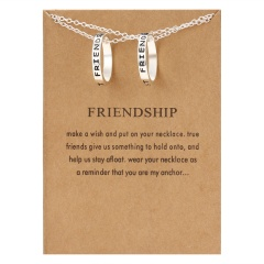 Best Friends Letter Pendant Necklace Clavicle Chains Choker Card Women Jewelry Forever Best Friends(2)