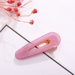 Jelly Waterdrop Hair Clip Pink