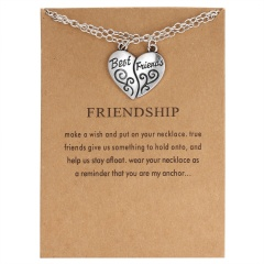 Best Friends Letter Pendant Necklace Clavicle Chains Choker Card Women Jewelry BEST FRIENDS(2)