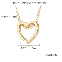 Charm Women's Hollow Heart Necklace Pendant Choker Fashion Lovers Jewelry Gift Gold