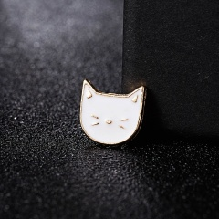 Rinhoo New Trendy Lovely Small Cat Wagging Tail Brooches Animal Simple Pin Jewelry Style Brooches Women Gift Cartoon Accessories cat1-1