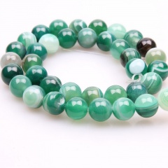 8mm Wholesale Natural Gemstone Round Spacer Loose Beads Bracelets Necklace Green