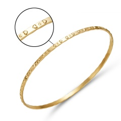 Rose Gold Smooth Round Surface Patchwork Square Hollow Twisted Embossed Bracelet Women Men Simple Bangle Metal Bracelet Jewelry gold 2