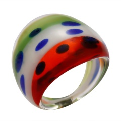 striped glass ring #1 colorful