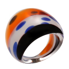 striped glass ring #2 colorful