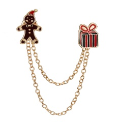 Christmas Bell Tassel Dorp Snowman Brooch Pin Collar Badge Jewelry Party Gifts Christmas Clown gift