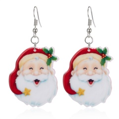 Fashion Women Christmas Santa Claus Dangle Ear Stud Earring Wedding Jewelry Gift Santa Claus
