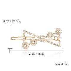 Rhinestone Hair Clip Barrettes 2019 Fashion For Women Handmade Hairpins Accessories Bow flower