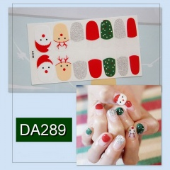 7 Paires/Set Waterproof Christmas Nail Stickers D