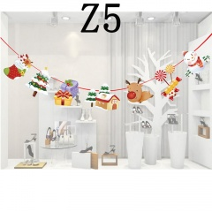 1PC Christmas Ceiling Decoration Ornaments Cartoon Hanging Pull Flag Z5