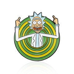 Classic Cartoon Enamel Pins Crazy Genius Mad Scientist Badge Button Brooch Anime Lovers Shirt Lapel Brooch Gift For Lover Scientist1