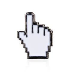 Classical Pixel Cursors PS Toolbar Hourglass Computer Window Mouse Pointer Arrow Enamel Brooches Pins Keyboard Badge Gift finger