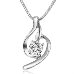 Simple hollow zircon crystal pendant necklace for women lover Zircon Necklace