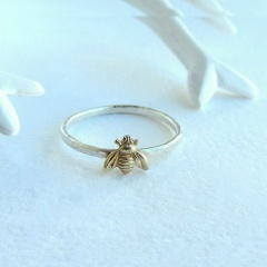 Gold Bee Finger Rings Band Stacking Animal Toe Knuckle Rings Wedding Women Hot Bee