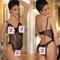 Erotic Lingerie Sexy Costumes Lace Siamese Perspective Three-Point Underwear G-string Sexy Lingerie Adult Products Black Free Size
