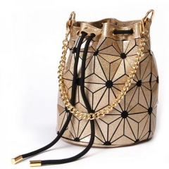 Geometric Laser Shaped Ringer Bag Golden