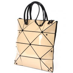 Gold Geometric Rhombus Foldable Single Shoulder Handbag Golden
