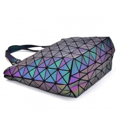 Geometric Laser Bag Luminous Ringer Bag One Shoulder Bag Triangle