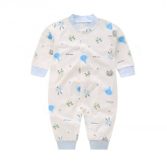 Baby Rompers Short Sleeve Jumpsuit Newborn Clothes Summer Bottoming White clothes with Animal Design Baby Girl Boy Onesie Clothes Elephants&Frogs 1-3 Months(59)