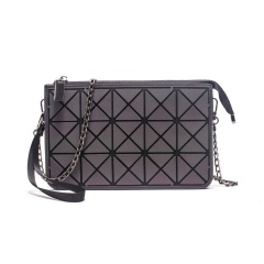 Geometric Diamond Luminous Three-layer Wallet Chain Bag Single-Shoulder Bag Cross-Body Bag 23.5*14.5cm The triangle model