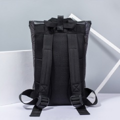 Geometric Rhombus Noctilucent Backpack Mountaineering Bag Large Capacity Hiking Bag 60*25.5*8cm Flower