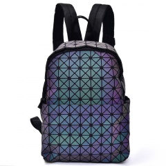 Geometric Ringer Backpack Travel Pack Zipper Bag35*26*14.5cm The triangle model