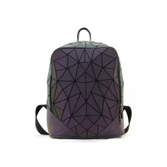 Geometric Diamond Laser Noctilucent Backpack Travel Pack 31.5*24*13.5cm Scalene triangle