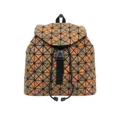 Geometric Ringer Bag Cork Printed Backpack Travel Pack Triangle