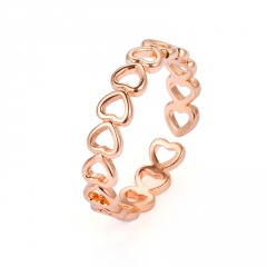 Fashion Hollow Heart Ring Open Band Women Finger Knuckle Jewelry Gifts Gold Heart
