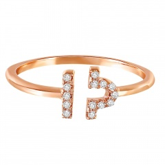 Fashion 12 Constellations Zodiac Sign Rings Adjustable Cubic Zirconia Jewelry Libra