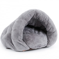 Classic Cat Litter With Warm Cat Sleeping Bag Gray