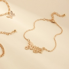 3 pieces Angel Butterfly Chain ankle Set Butterfly
