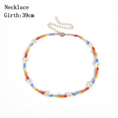 Rice pearl Daisy flower choker necklace Colour