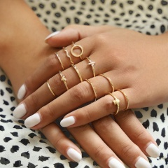 11 sets of pineapple Heart-shaped cactus Joint Rings Alloy