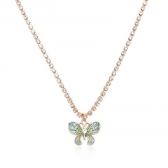 Fashion Butterfly Pendant Necklace Crystal Claw Chain Clavicle Choker Collar NEW Multi color