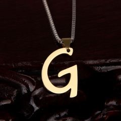 26 letter stainless steel number necklace G