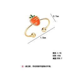 Carrot ring vegetable color gutta percha ring RI20Y0022