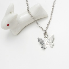 Simple Alloy Butterfly Pendant Necklace Jewelry Gift 1pc silver