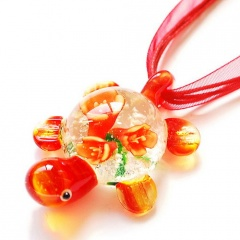 Wholesale Murano Glass Necklace Lampwork Rurtle Necklace Red