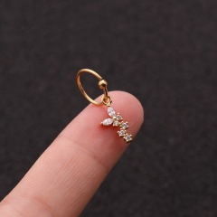 Gold Plated Crystal0 Earrings Nose Rings For Women Butterfly