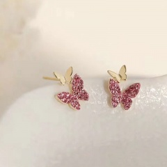 Fashion Colorful Crystal Earring Studs For Women #4