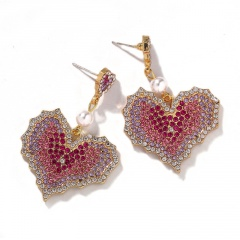 A Pair Of Hearts Full Of Stud Earrings Double love