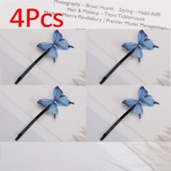 Hot Sell Women Girls Butterfly Hair Clips Jewelry Gift Hair Accessories blue