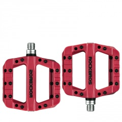 Bicycle Pedals Palin Mountain Bike Nylon Pedal Bearings Riding Pedals 12C-Red