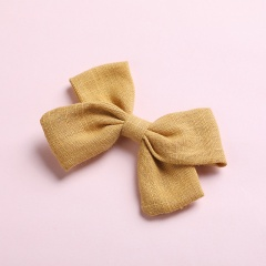 Simple Bow Hairpin Hairclip Multicolor Headwear Yellow