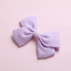 Simple Bow Hairpin Hairclip Multicolor Headwear Light Purple
