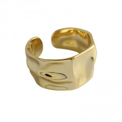 Fashion Gold Silver Plated Open Adjustable Rings Gold