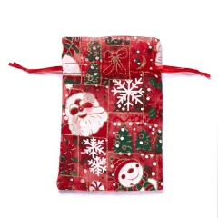 1pc Random Christmas Pattern Apple Biscuit Candy Gauze Bag 1 pc